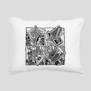 World Music Instruments Rectangular Canvas Pillow