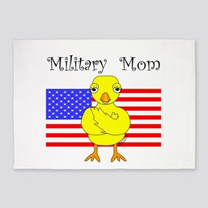 Military Mom Chick 5'x7'Area Rug
