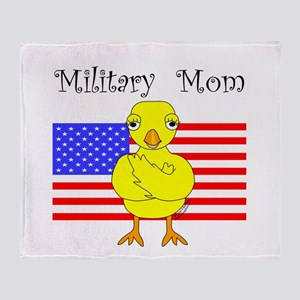 Military Mom Chick Throw Blanket