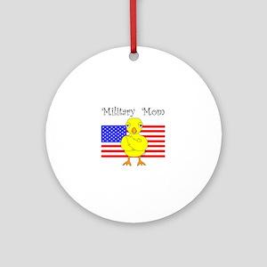 Military Mom Chick Round Ornament