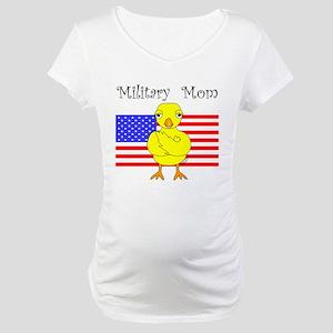 Military Mom Chick Maternity T-Shirt