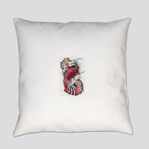 Koi Fish and Lotus Flowers Everyday Pillow
