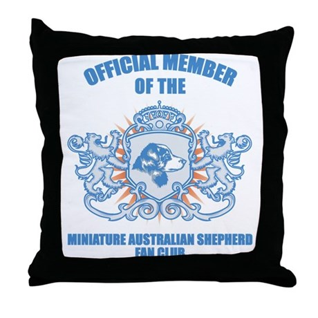 Miniature Australian Shepherd Throw Pillow