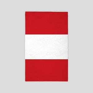 The flag of Austria -- The Austrian Triba Area Rug