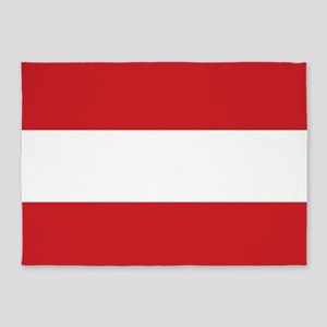 The flag of Austria -- The Austrian 5'x7'Area Rug
