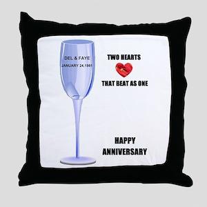 HAPPY ANNIVERSARY Throw Pillow