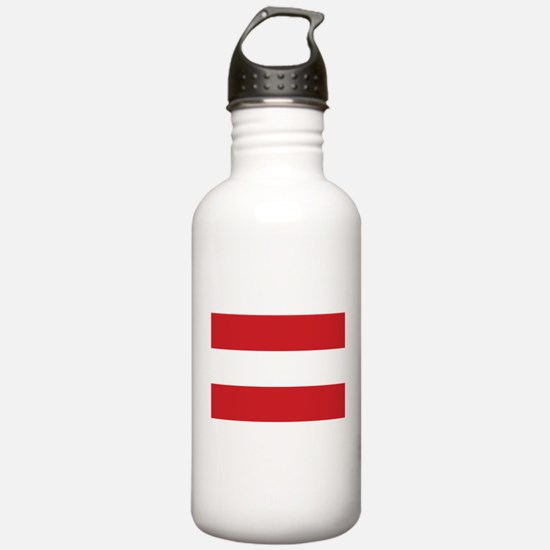 The flag of Austria -- Water Bottle