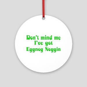 Eggnog Noggin Ornament (Round)