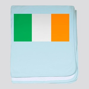 The Irish Tricolour -- flag of Irelan baby blanket