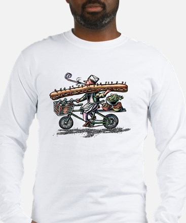 Sandwich Delivery Man with Hug Long Sleeve T-Shirt
