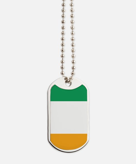 Vertical Irish Tricolour -- the flag of I Dog Tags