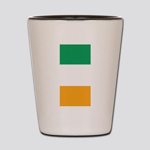 Vertical Irish Tricolour -- the flag of Shot Glass