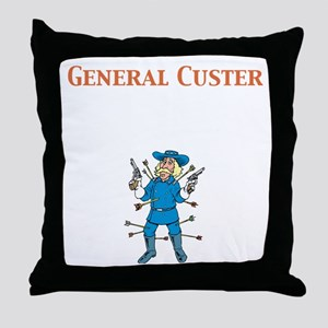General Custer Throw Pillow