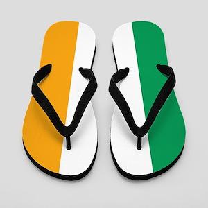 Irish Tricolour Square - flag of Irelan Flip Flops