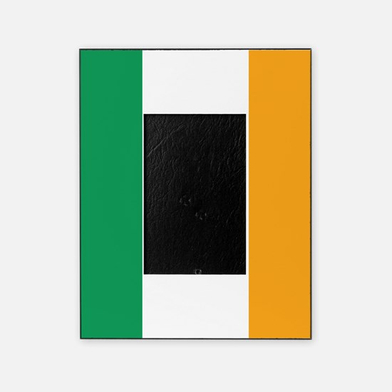 Irish Tricolour Square - flag of Ire Picture Frame