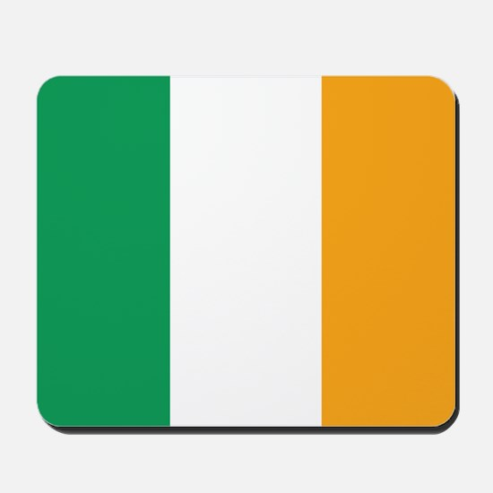 Irish Tricolour Square - flag of Ireland Mousepad
