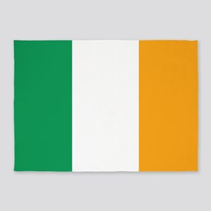 Irish Tricolour Square - flag of Ir 5'x7'Area Rug
