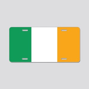 Irish Tricolour Square - fl Aluminum License Plate