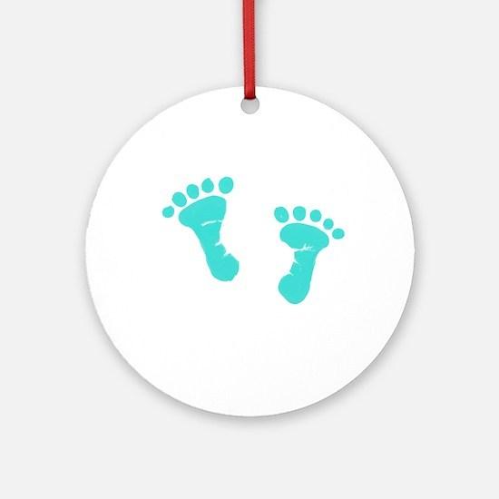 Unique Baby feet Round Ornament