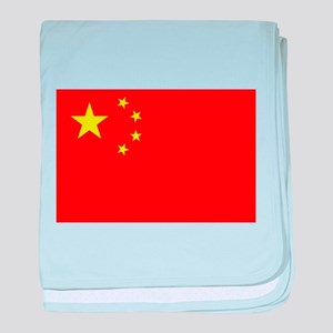 FLAG OF CHINA baby blanket