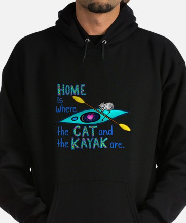 Home is where the Cat and the Kayak are Sweatshirt