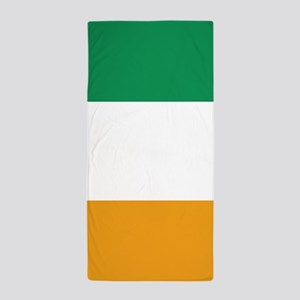 Vertical Irish Tricolour -- the flag o Beach Towel