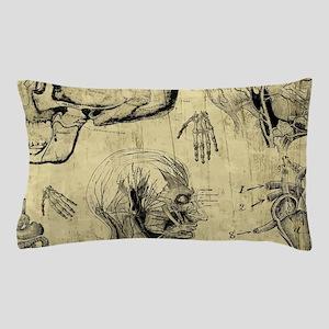 Vintage Anatomy Skulls Pillow Case