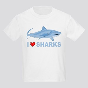 I Love Sharks Kids Light T-Shirt