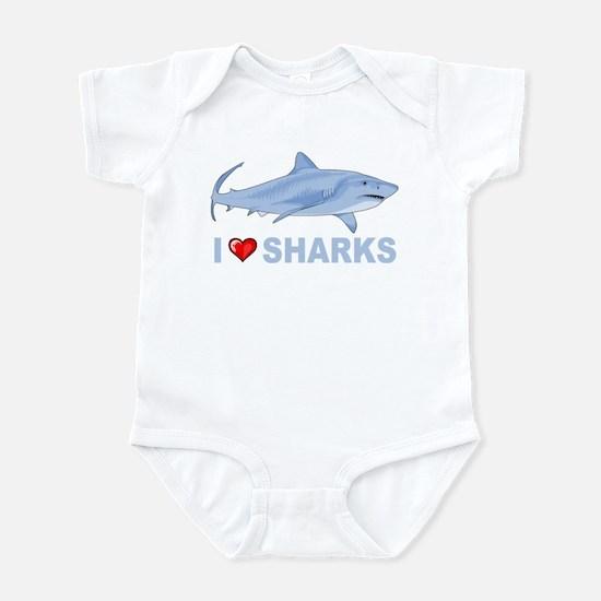 I Love Sharks Infant Bodysuit