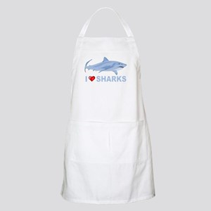 I Love Sharks BBQ Apron