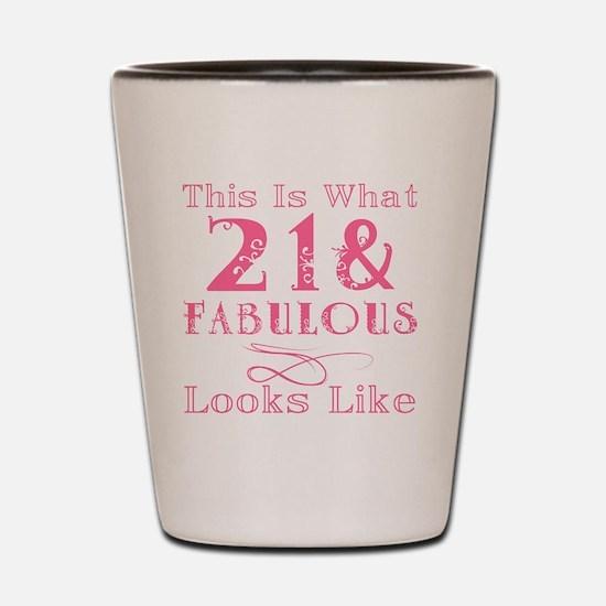 Unique 21st birthday girl Shot Glass