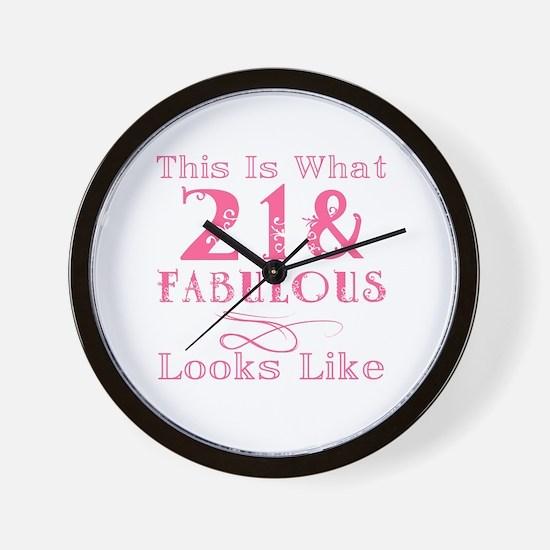 Cute 21 and fabulous Wall Clock
