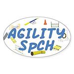 SpCH Agility Title Oval Sticker