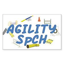 SpCH Agility Title Rectangle Sticker