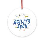 SpCH Agility Title Ornament (Round)