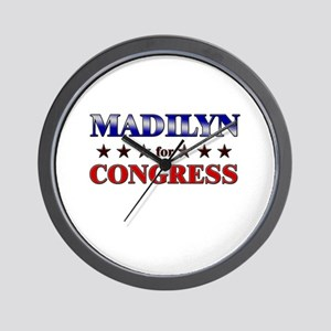 MADILYN for congress Wall Clock