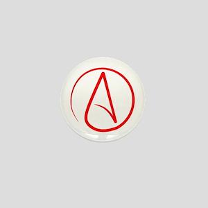 Red A Mini Button