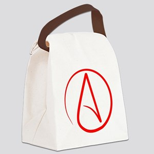 Red A Canvas Lunch Bag