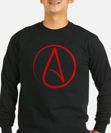 Red A Long Sleeve T-Shirt
