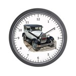 Ford Model A White Wall Clock