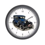 Ford Model A Blue Wall Clock