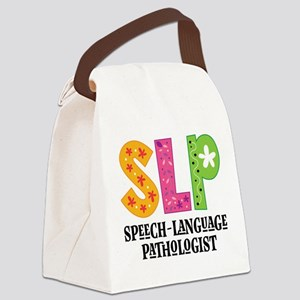 SLP Speech Therapist Canvas Lunch Bag