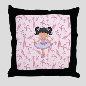 Ballerina Purple Tutu Throw Pillow