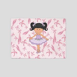 Ballerina Purple Tutu 5'x7'area Rug