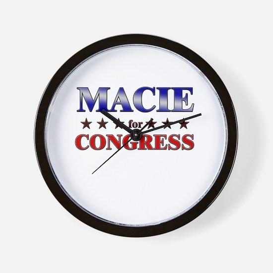 MACIE for congress Wall Clock