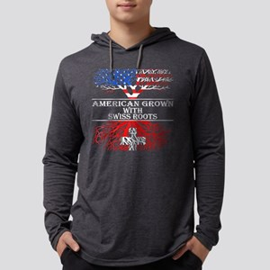 American Grown With Swiss Root Long Sleeve T-Shirt