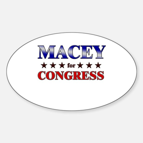 MACEY for congress Oval Decal