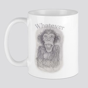"""Whatever"" Monkey Mug"
