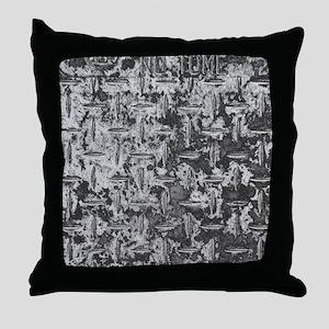 Industrial Metal Texture Throw Pillow