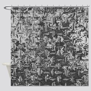 Industrial Metal Texture Shower Curtain
